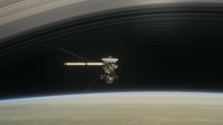 Vue d'artiste de la sonde Cassini (image NASA)