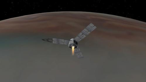 Vue d'artiste de la sonde Juno (image NASA)