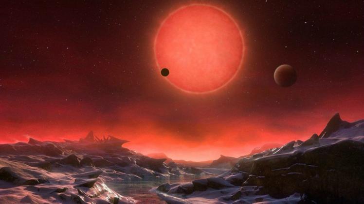 Vue d'artiste des exoplanètes (image Kornmesser - ESA)