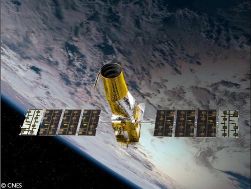 Vue d'artiste du télescope spatial Corot (image CNES).jpg