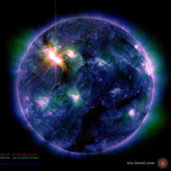 Image de l'explosion X5,4 (image NASA)