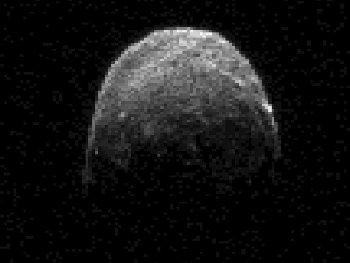 Image radar de l'astéroïde 2005 YU55 (image NASA)