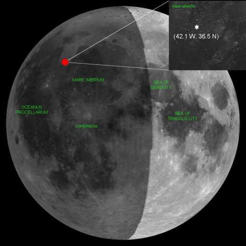 Zone de l'impact du 17 Mars (image Cidehom.com)