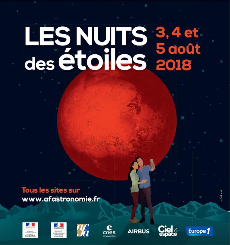 Affiche Nuit des Etoiles 2018 (image AFA)