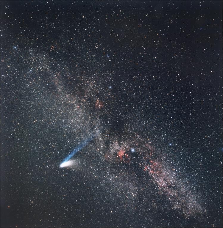 La comète Hale-Bopp devant la Voie Lactée (image ESO)