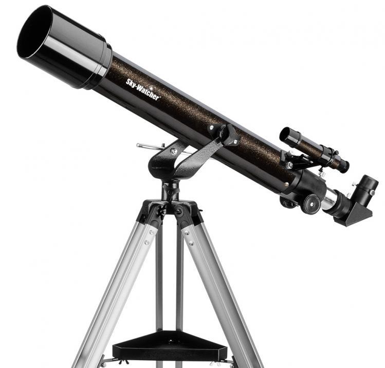 Lunette de 70 mm sur une monture azimutale (image Optique Unterlinden)