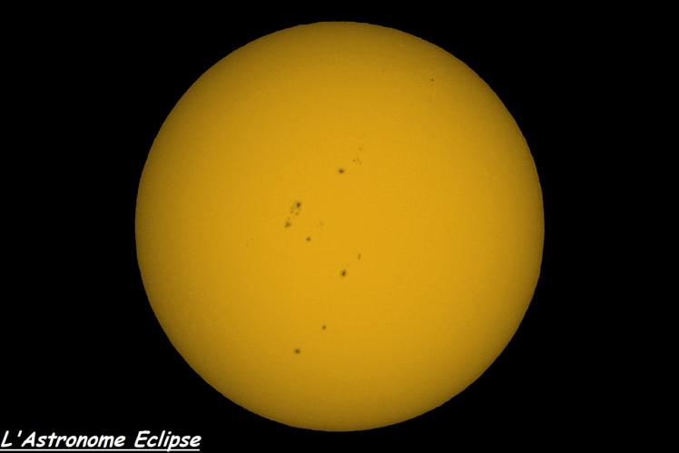 Soleil le 16 avril 2014 (image L'Astronome Eclipse)