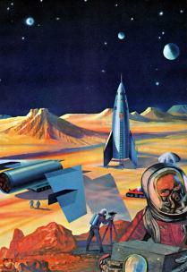 Station martienne 1959 (image Grand Album d'Or des Inventions)