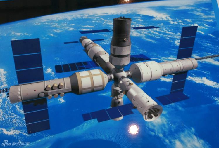 Version complète de Tiangong-1, qui ne verra jamais le jour (image Agence Spatiale Chinoise)